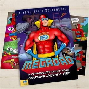 Personalized Mega Dad Comic Book