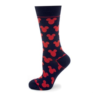 Mickey Mouse Silhouette Blue Socks