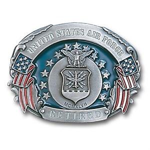 Military US Air Force Retired Enameled Belt Buckle