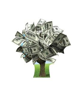 Money Tree Cardboard Cutout