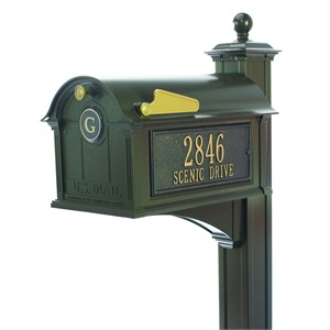 Personalized Monogram Mailbox Package - Post