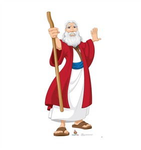 Moses Creative for Kids Illustrated Cardboard Cutout