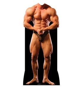 Muscle Man Standin Cardboard Cutout