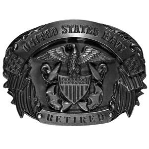Navy Retired Belt Buckle