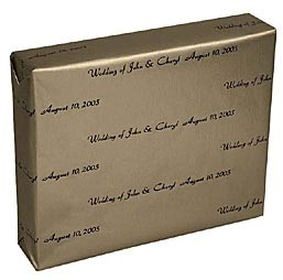 Personalized Gift Wrap<br>Gold Rush Pearlized Finish