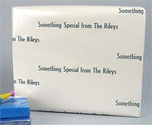 Personalized Gift Wrap<br>Strands of Pearls Satin Finish