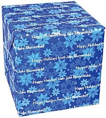 Personalized Gift Wrap<br>Snowflake Blue