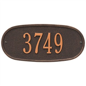 Personalized Oval Address Plaque - 1 Line