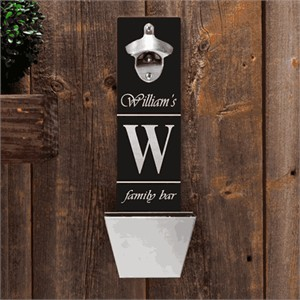 Personalized Bottle Opener and Cap Catcher