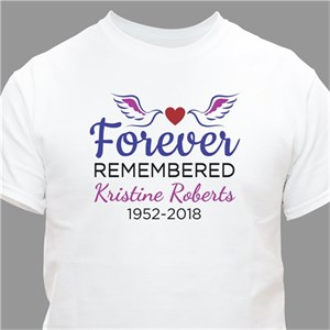 Personalized Forever Remembered T-Shirt