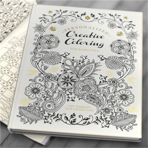 Personalized Adult Coloring Book - Hard Cover