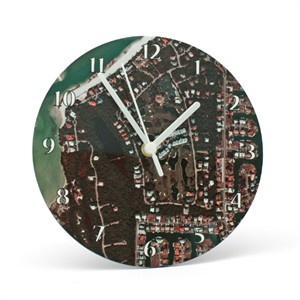 Personalized Aerial Map Clock