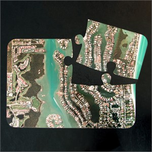 Personalized Aerial Map Jigsaw Placements