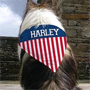 Personalized American Flag Dog Bandana