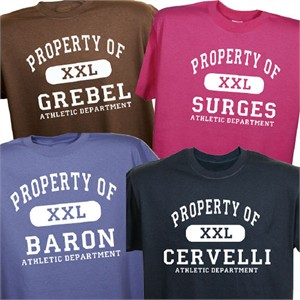 Personalized Athletic T-Shirt