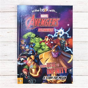 Personalized Avengers Beginnings from Here to Infinity Book