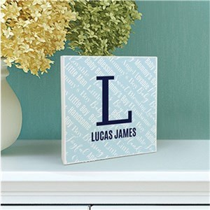Personalized Baby Name 6x6 Table Top Sign