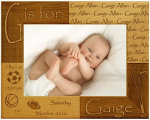 Personalized Baby Sports Frame