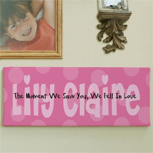 Personalized Baby Wall Canvas