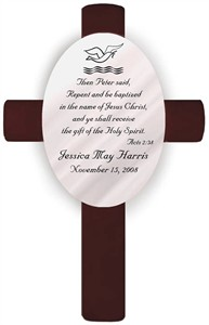 Personalized Baptism Cross - Acts 2:38