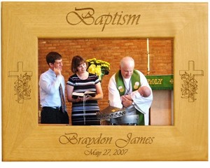 personalized baptism frame personalized wooden frames