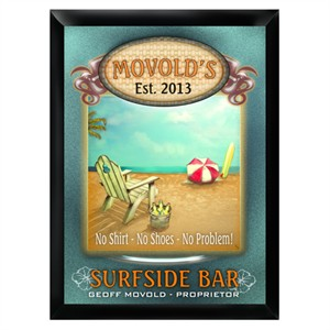 Personalized Bar Sign Wall Decoration - Surfside