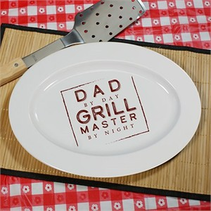 Personalized BBQ Platter - Square Grill Master