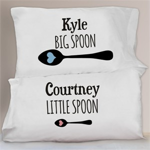 Personalized Big Spoon Little Spoon Pillowcase Set