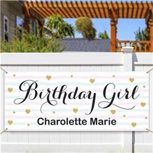 Personalized Birthday Girl Banner