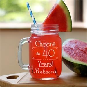 Personalized Birthday Mason Jar