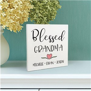 Personalized Blessed 6x6 Table Top Sign