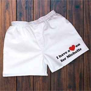 Personalized Boxers - I Have a Heart On