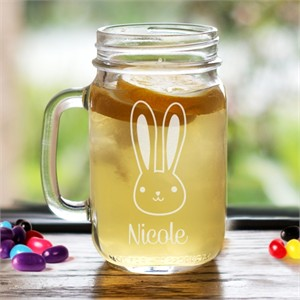 Personalized Bunny Mason Jar