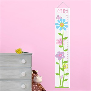 Personalized Butterflies and Blooms Growth Chart