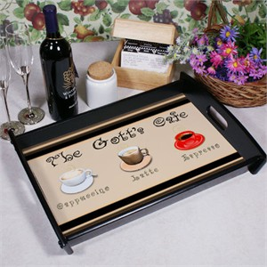 Personalized Café Serving Tray