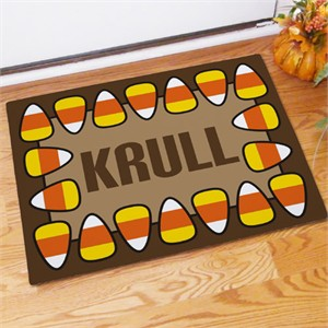 Personalized Candy Corn Doormat - Small