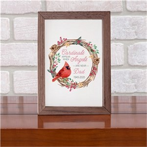 Personalized Cardinals Appear When Angels Are Near Table Top Sign
