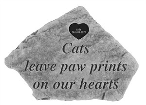 Personalized Cats Leave Paw Prints with Heart Tag