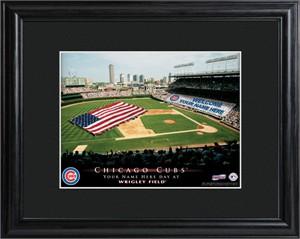 Personalized Chicago Cubs Stadium Print