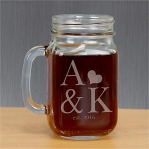 Personalized Couples Mason Jar