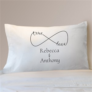 Personalized Couples Pillowcase - Infinity