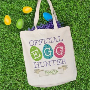 Personalized Easter Egg Hunt Tote Bag