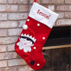 Personalized Elf Stocking