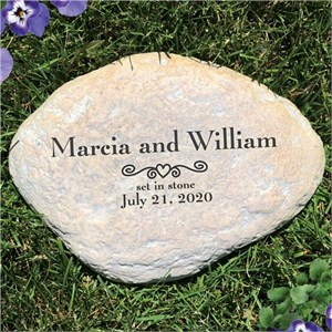 Personalized Engraved Marriage Garden Stone