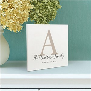 Personalized Family Name 6x6 Table Top Sign