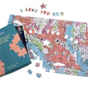 Personalized Fathers Day Map Puzzle