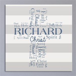 Personalized First Communion Wall Canvas