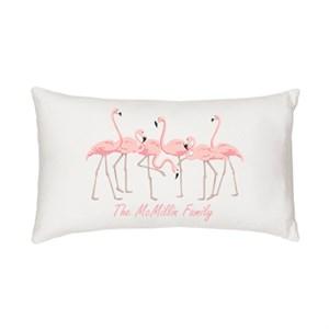 Personalized Flamingo Lumbar Pillow
