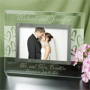 Personalized Glass Wedding Frame