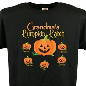 Personalized Grandparent T-Shirt - Pumpkin Patch